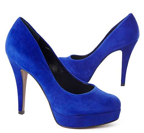 blue suede 'Amelia' shoes by Carvela