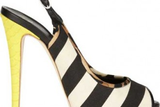 Giuseppe Zanotti black and white slingback shoes