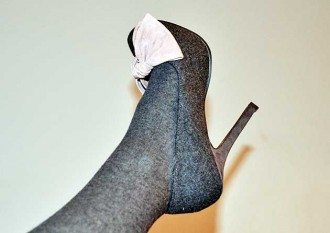 Miss KG grey and pink Minne pumps