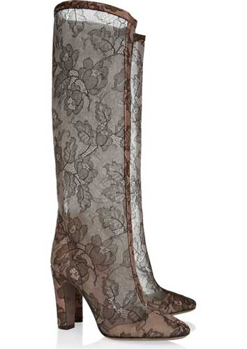 Valentino lace knee boots