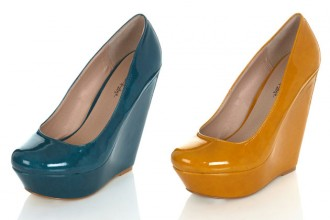 patent wedges from Miss Selfridge