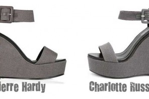 Pierre Hardy shoes copied by Charlotte Russe