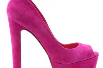 Pink platform peep toes by Siren Shoes