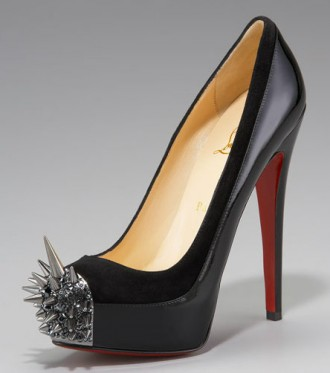 Christian Louboutin spike toe shoes