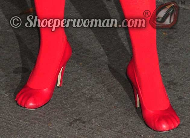 Vivienne Westwood red toe shoes