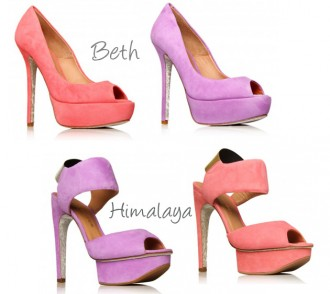 candy coloured shoes