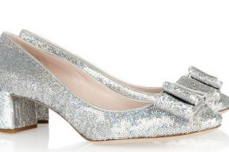 Miu Miu sequined shoes with low heels