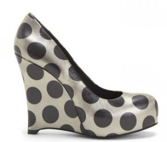 polka dot wedge shoes