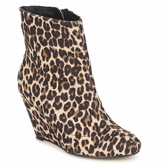 Ravel Hype leopard print wedge boots