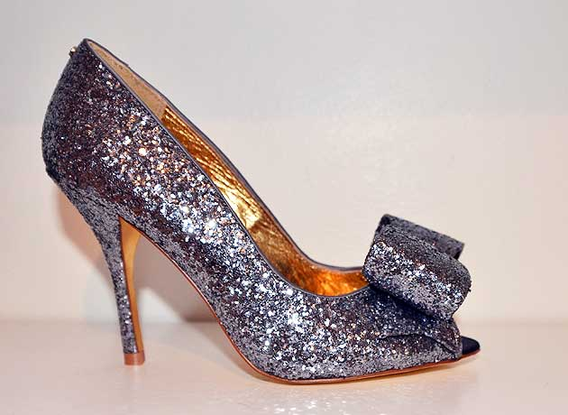 d4968324f9bb6 Ted Baker  Keanah2  peep toes in silver glitter