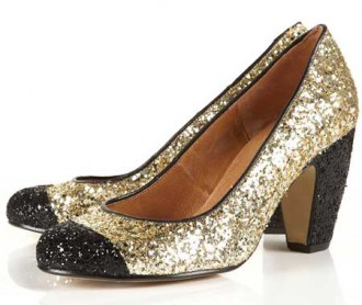 glitter shoes with toecap