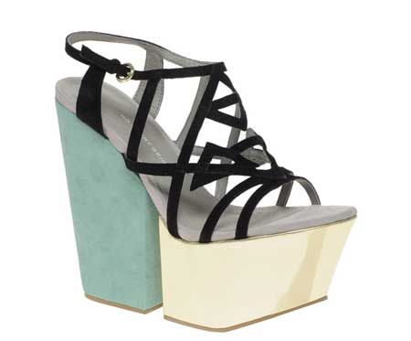 KG Harry Mega Wedge Colourblock Sandals