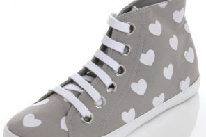 Amore grey heart print sneakers