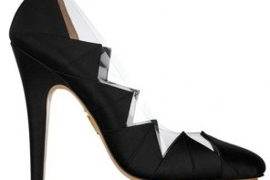 Charlotte Olympia origami satin pumps