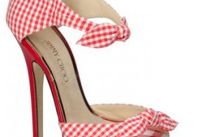 Jimmy Choo red gingham Brigitte shoes
