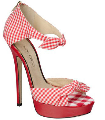 027df5ded895 Shoe Kryptonite  Jimmy Choo red gingham  Brigitte  sandals