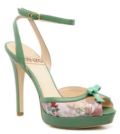 Kenzo green floral sandals