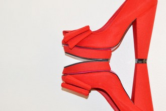 red 'Polly' platforms from Miss Selfridge
