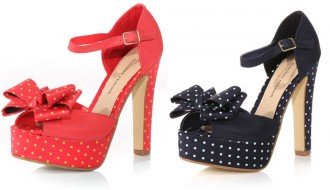 polka dot platform shoes