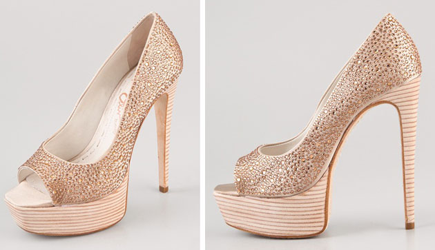 Alice + Olivia crystal pumps
