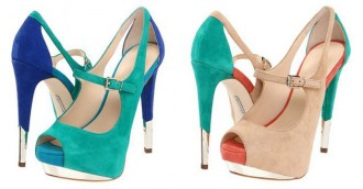 Nikeya colourblock peep toes