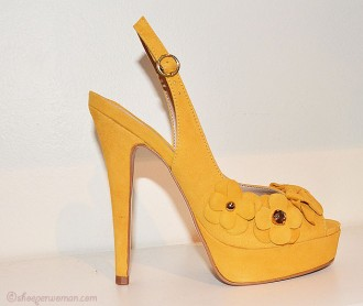 Carvela yellow 'Gypsy' slingbacks