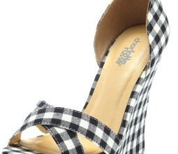 Charlotte Russe gingham wedges