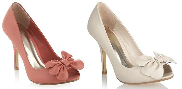 Faith triple bow peep toes
