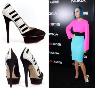 Katy Perry in Charotte Olympia 'PIano' shoes