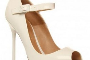 white peep toe shoes