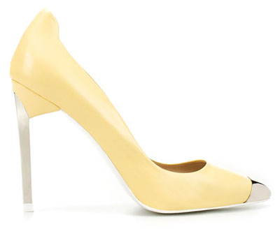 Zara lemon toecap shoes