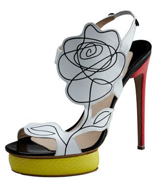 Nicholas Kirkwood Scribble-Flower shoes