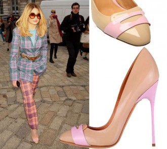 Nicola Roberts wears Kurt Geiger 'Elm' to Mark Fast Fashion Week Show