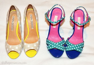 Buffalo polka dot shoes