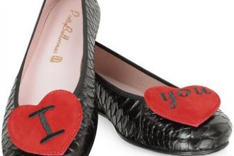 Pretty Ballerinas red heart shoes