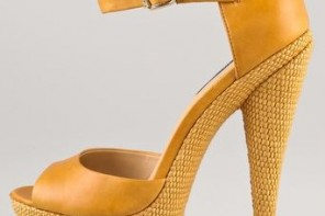 Rachel Zoe yellow Bardot sandals