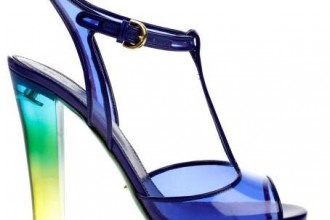 Sergio Rossi blue plexiglass sandals