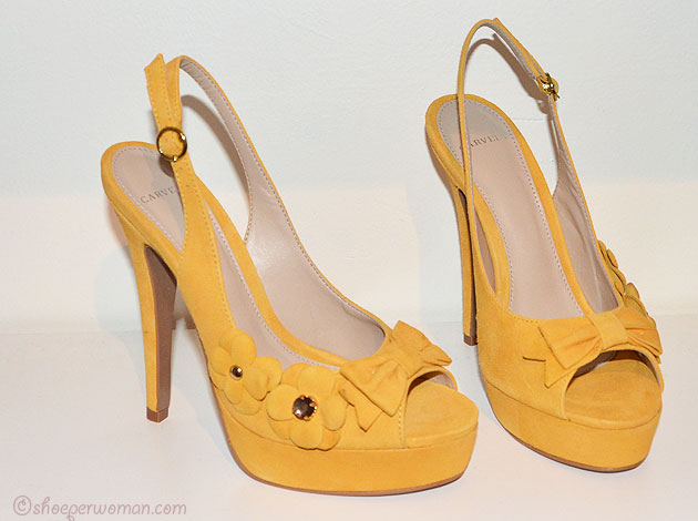 Carvela yellow suede shoes