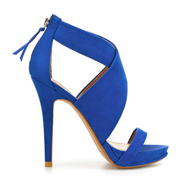 blue suede crossover sandals