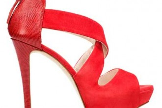 Zara red suede crosscross sandals