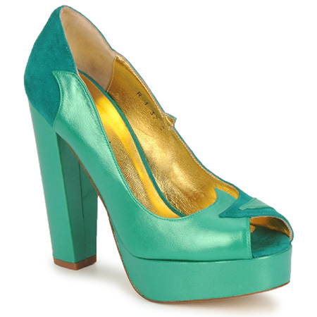 Terry de Haviland green peep toes