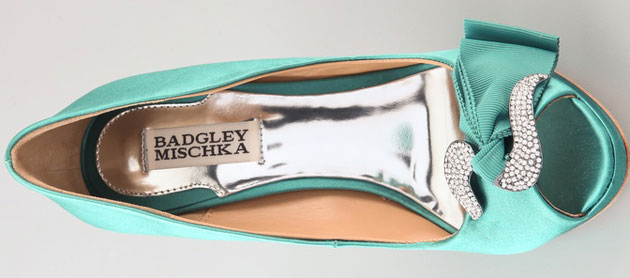 Badgley Mischka green shoes