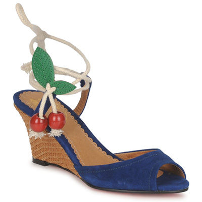 Blue cherry wedges