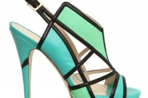 green and blue sandals