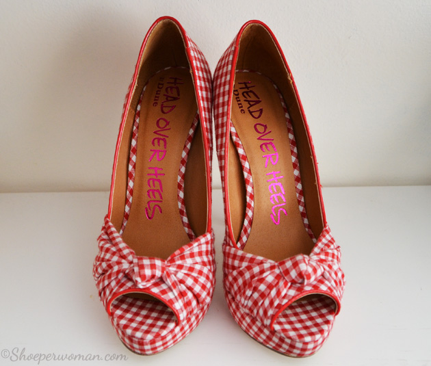gingham print shoes