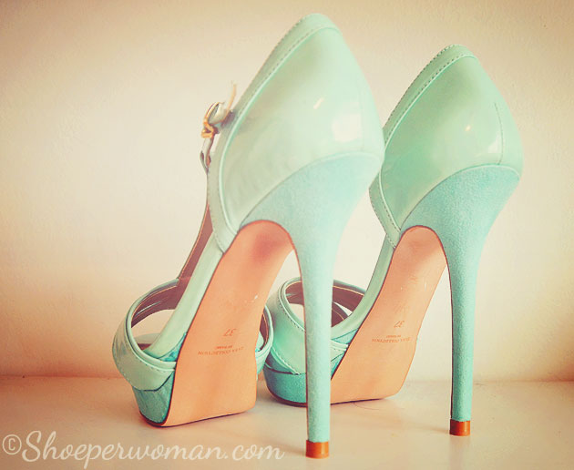 Zara mint green heels