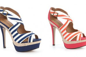 New Look stripey platform sandals