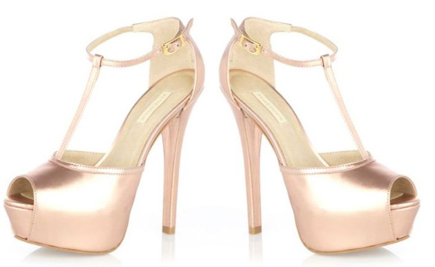 pink river island t-bar shoes