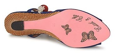 pink sole on shoes