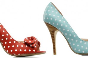 polka dot shoes